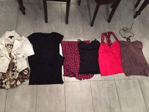 Lot de bustiers/robe/veste/camisoles grandeur médium femme