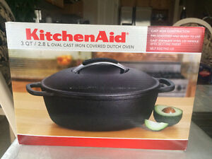 New KitchenAid Cookware Cast Iron Covered Dutch Oven
