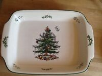 New Spode Christmas Tree rectangle large dish