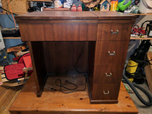 Sewing Table with Vintage Sewing Machine