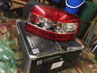 Audi A3 LED rear lights