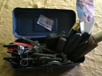 Odd & end hand tools in box 10.00 take all