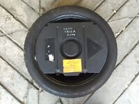 Spare wheel tyre and tool kit 5x100 stud 205/45/16