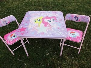BRAN NEW (never used)  M Y  LITTLE PONY table & chairs set!
