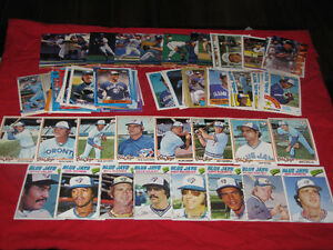 250 Toronto Blue Jays cards (1977-95)*