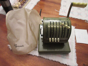 Vintage Paymaster Canadian Series X-550 check writer machine