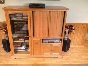 Solid Wood Entertainment Unit TV cabinet