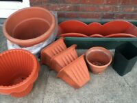 13 USED PLANT POTS
