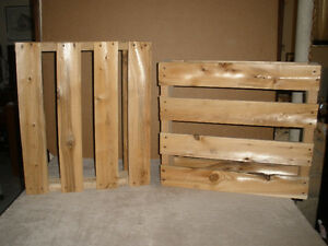 Two Small Wooden Pallets for DIY Projects