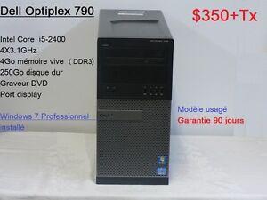 Wow! Ordinateurs  usagés Core i5 à 4 coeurs  à 350$