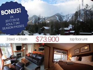 NEW PRICE! Sit Fireside in Your Own Fernie Ski Resort Condo