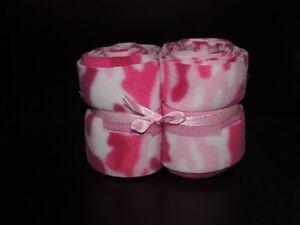 Ccustom Pink Camo Print Horse Polo Wraps