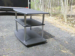 Chrome & Black TV or Book Stand