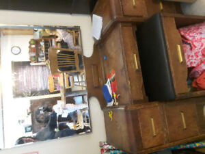 Antique writing desk and vanity dresser