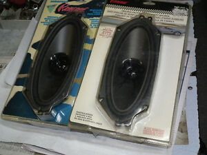 MATCHING  PAIR  OF 4  X  10  CAR  SPEAKERS  NEW .