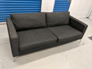 Dark     Gray     Denim   IKEA    Karlstad Sofa. Free Delivery.