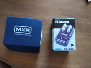 MXR Micro Chorus and TC Electronic Flanger