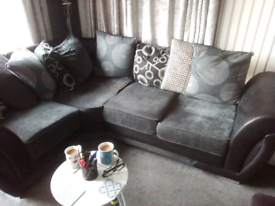 Grey corner unit + grey chair