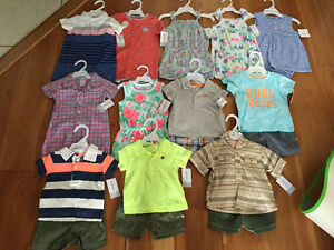New! Assorted Carters 2 piece or romper sets