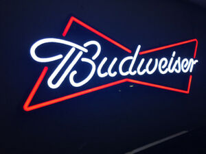 Budweiser bar sign