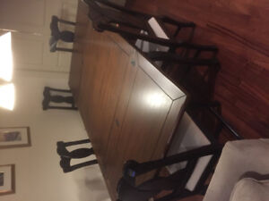 Square dining room table & 5 chairs