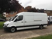 2014 14 MERCEDES-BENZ SPRINTER 2.1 313CDI LWB HIGH ROOF 130BHP. ROOF-RACK + LADD