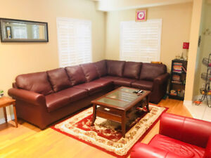Cherry Coloured Sectional Sofa FOR SALE!