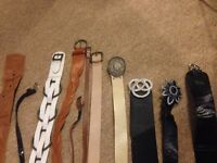 Ladies size 10 belt bundle