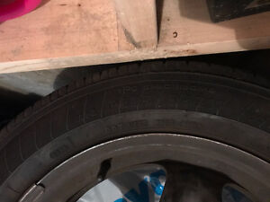 Almost new Tires and rims P225/55 R17 95T