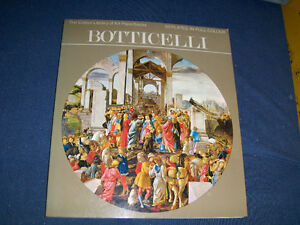 BOTTICELLI-ART SOFTCOVER-50 COLOR PLATES-COLOR LIBRARY OF ART