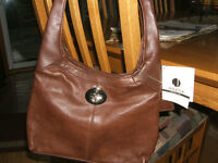 Genuine Leather Brown Purse/handbag - new with tags