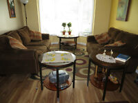 Living Room Set – Sofa, Loveseat, 2 Side Tables and Coffee Table
