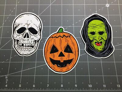 Halloween III 3 Season of the Witch mask decal sticker set Silver Shamrock masks