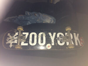 zoo York deck with Chaz Ortis silver trucks