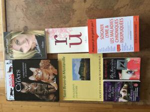 Différents livres à vendre