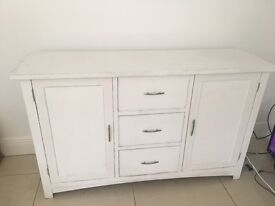 Real oak cupboard. No Formica. Painted white on outside