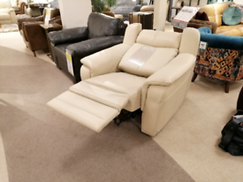 Nicoletti Leather recliner chair