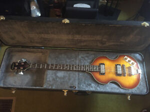 Epiphone Viola Bass and Fender Bronco Bass Amp