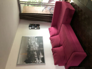 Pink couch for sale in Burlington