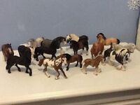 15 assorted horse figures