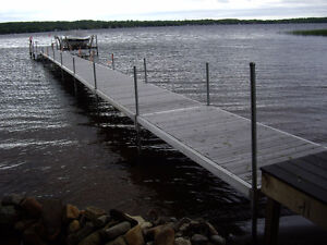 Dock Leg Pipes, Feet & Caps (6), New, 5.25 feet long.