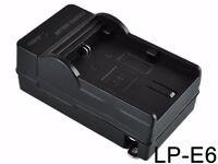 Canon EOS 70D 60D 7D 6D 5D Mark II Mark III LPE6 Battery Charger