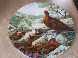 7 plates of wild birds, $25.00 each. 2 plates of different theme