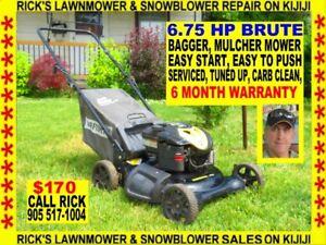 A 6.75 HP 21'' BRUTE BAGGER, MULCHER LAWNMOWER.