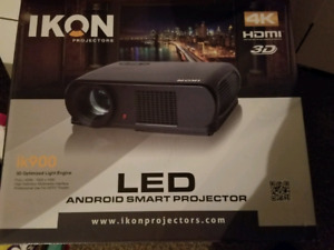 LED 4K 3D PROJECTOR  WITH SCREEN