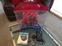 Kids Marina 21lt fish tank with accessories