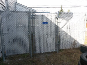 45' Chain Link Fence with Privacy Lattice