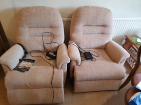 Pair of Sherborne armchairs for sale.