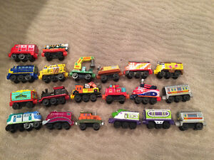 Original style wooden, magnetic joining Chuggington Trains London Ontario image 3