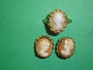 cameo ring & earrings Peterborough Peterborough Area image 1